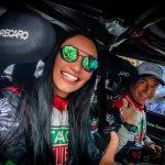 Laura Damiron, representando o estado de MS e o Brasil em uma das corridas automobilística mais famosas do mundo, no Mexico.